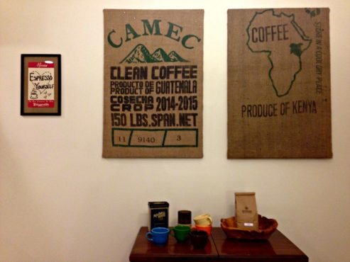 DIY: Burlap Coffee Bag Art